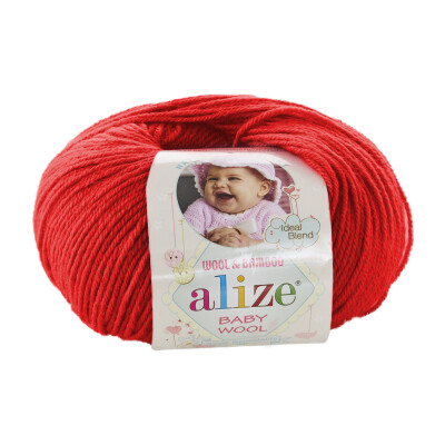 ALIZE BABY WOOL 56 RED