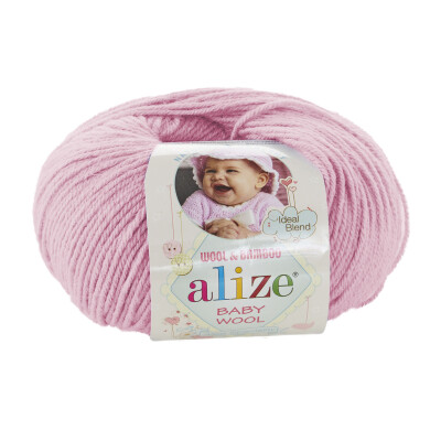 ALIZE BABY WOOL 185 LIGHT PINK