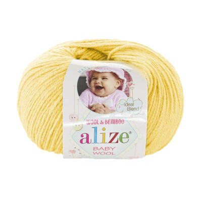 ALIZE BABY WOOL 187 YELLOW