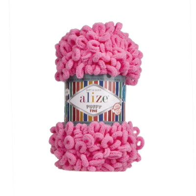 ALIZE PUFFY FINE 121 COTTON CANDY