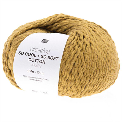 RICO CREATIVE SO COOL + SO SOFT COTTON CHUNKY SENF