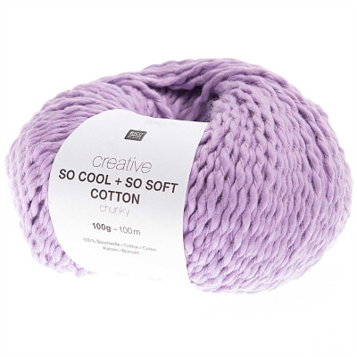 RICO CREATIVE SO COOL + SO SOFT COTTON CHUNKY FLIEDER