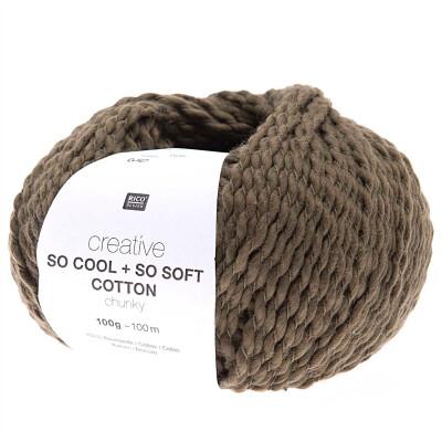 RICO CREATIVE SO COOL + SO SOFT COTTON CHUNKY OLIV