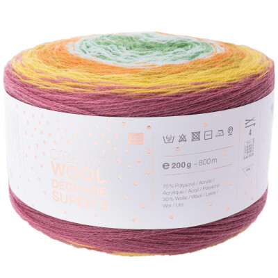 RICO CREATIVE WOOL DÉGRADÉ SUPER 6 BEERE-GRÜN