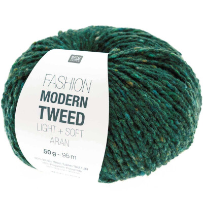 RICO FASHION MODERN TWEED ARAN GRÜN
